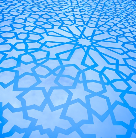 Moroccan Geometric Background photo