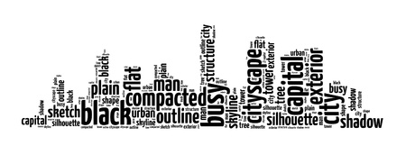 cityscape info-text graphics and arrangement concept on white background photo