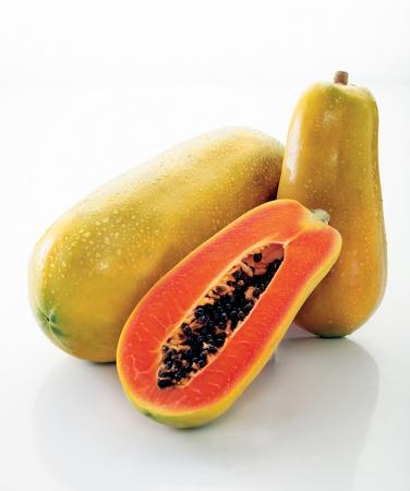 papaya over white background Stock Photo