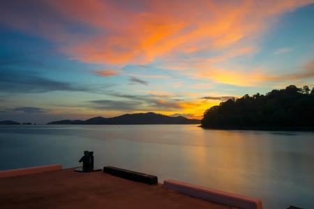 sunset at langkawi island, malaysia