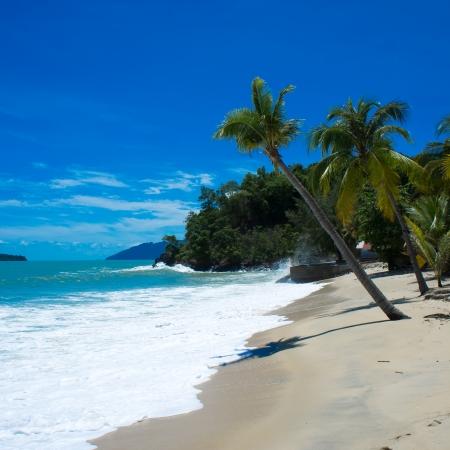 tropical beach at langkawi island, malaysia