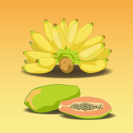 cranny: Banana and Papaya ,Fruit of Asia.