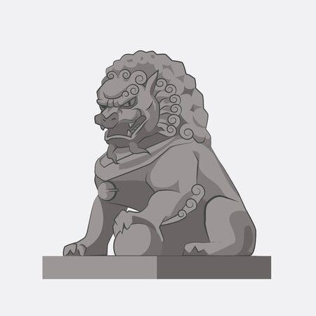 gargouille: Motif Lion chinoise traditionnelle.