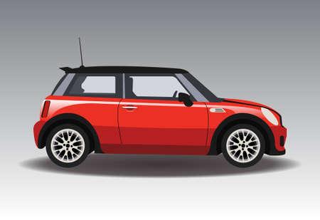 Red Mini Car.  일러스트