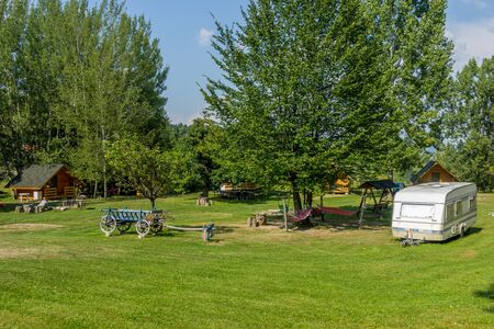 accommodations: Typical european camping with  bungalows and caravans to rent
