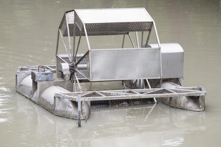 water turbine: water turbine in water at thailand
