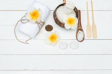 bathsalt: Spa treatment with lime and salts Stock Photo