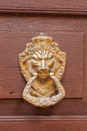 Door Knocker with lion head Stock Photo - 13764635