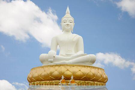 White buddha photo