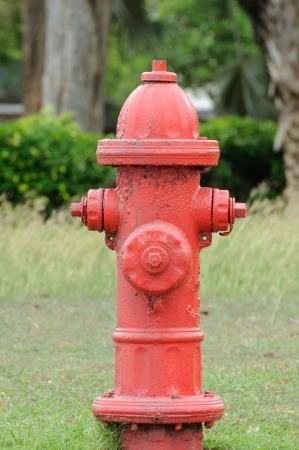Old red hydrant photo