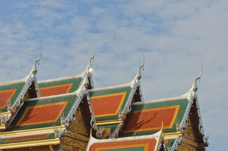Roof temple in thailand photo