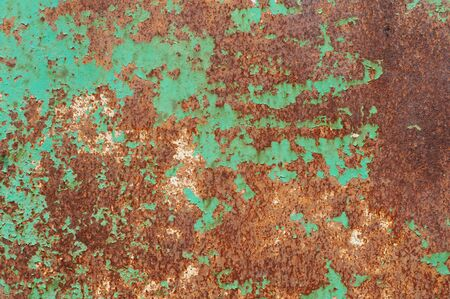 oxidized: Detail of rusty metal, showing rust textures