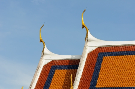 Close up of a Thai temple roof texture photo