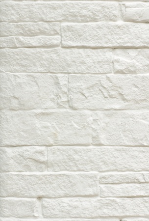 Texture of White brick wall background photo
