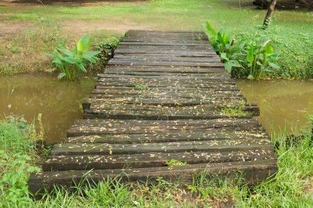 Small bridge across a stream in the park Stock Photo - 15965878