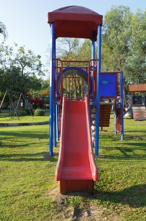 children playground in the park Stock Photo - 16210943