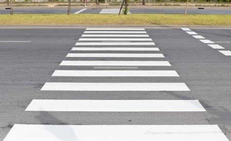 Zebra traffic walk way in the city Stock Photo - 17343577
