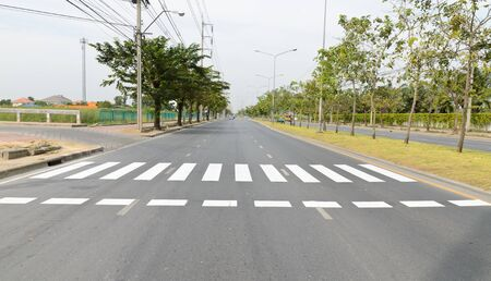 Zebra traffic walk way in the city photo