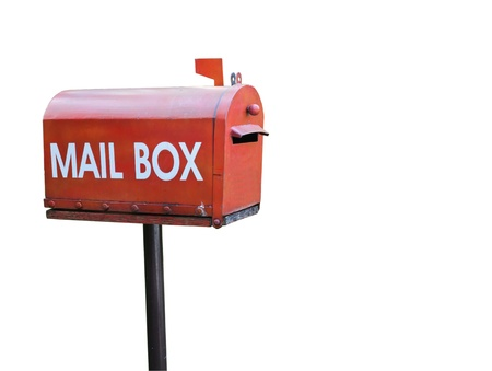 Mail box isolated white background photo