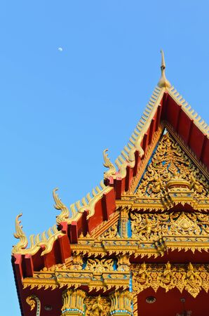 dhamma: Temple roof, tri-angels temple roof in Thailand