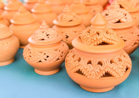 Clay pot,decoration thai style