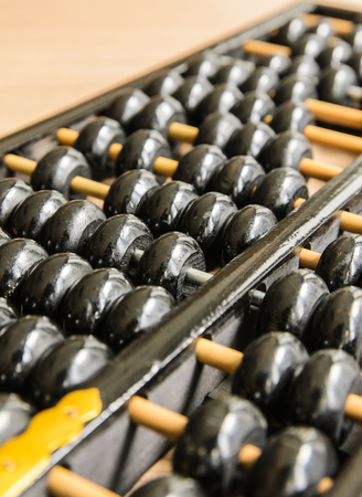 Ancient Chinese abacus old calcutate Stock Photo