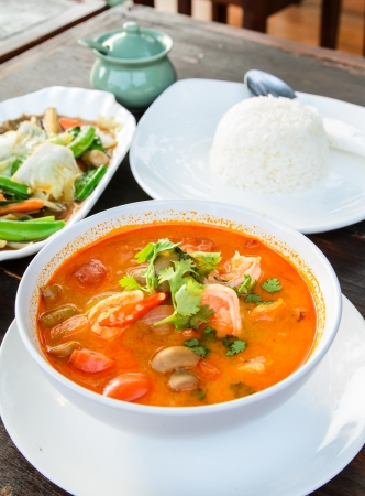 goong: Hot and sour soup and shrimp in condensed water, Thai traditional food  Tom Yum Goong