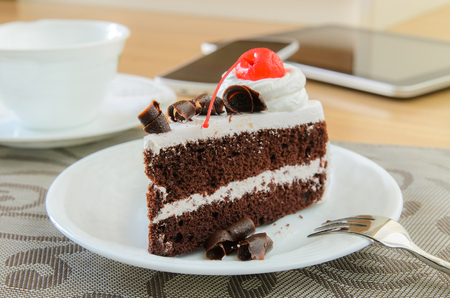 Chocolate Cake Slice for Tea Time,Relax Time photo
