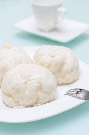 Chinese Steamed Buns traditional Thai and Chinese breakfast photo