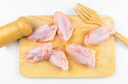 PrEP: Fresh chiken meat prepare for cooking