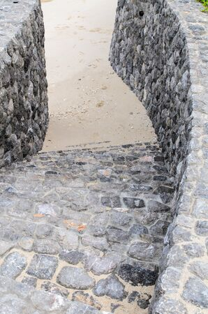 Stone stairs to the beach