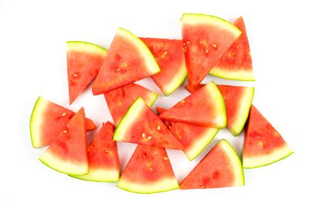 Watermelon on white background Stock Photo