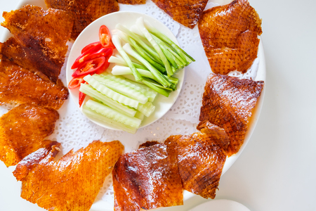 Peking duck set one of famous Chinese food Stock Photo