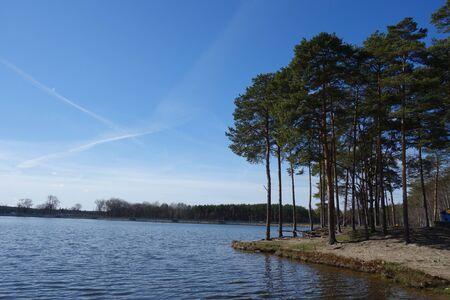 edge: Calm lake edge landscape Stock Photo