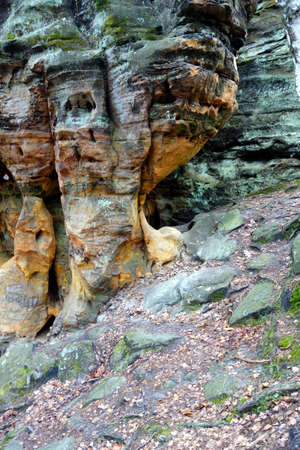 scarp: Enormous sandstone on a forest hill