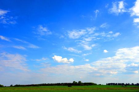 cloudscape: Cloudscape over farmland Stock Photo