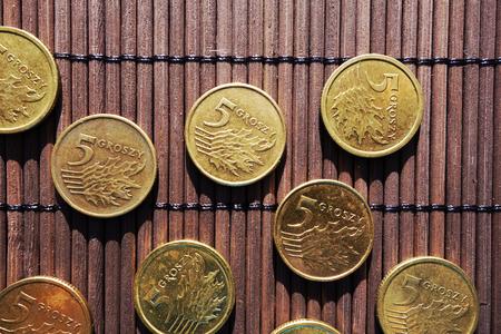 five cents: Polish five cents coins