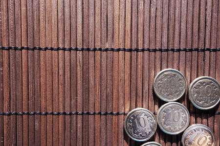 cents: This Polish cents coins background