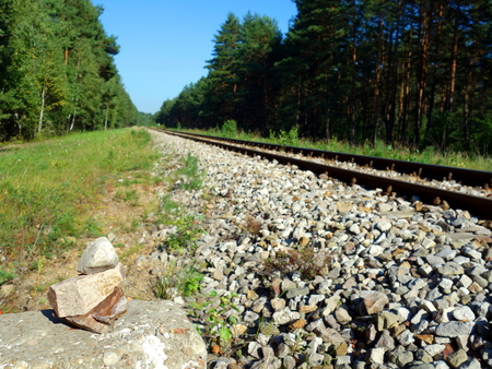 Gravel on railway