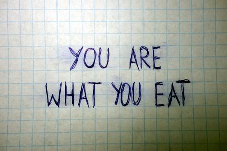frase: Famous sentence written on a sheet Foto de archivo