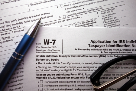 Tax Form 1040ez And Instructions With Pencil And Pink Eraser Stock