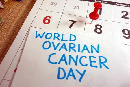 World ovarian cancer day 2018 Stock Photo