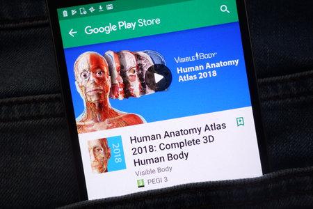 Konskie Poland June 12 2018 Human Anatomy Atlas 2018 Complete