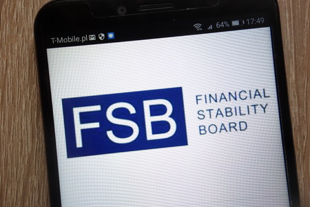 KONSKIE, POLAND - SEPTEMBER 06, 2018: Financial Stability Board logo displayed on a modern smartphone