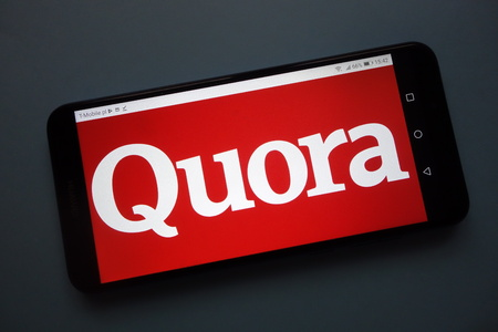 KONSKIE, POLAND - November 12, 2018: Quora logo displayed on smartphone
