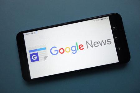 KONSKIE, POLAND - November 25, 2018: Google News logo displayed on smartphone