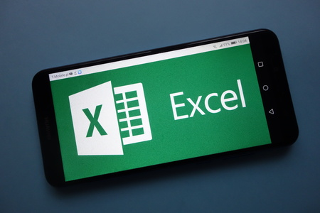 KONSKIE, POLAND - November 25, 2018: Microsoft Excel logo displayed on smartphone