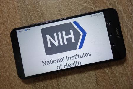 KONSKIE, POLAND - December 04, 2018: National Institutes of Health logo displayed on smartphone Editorial
