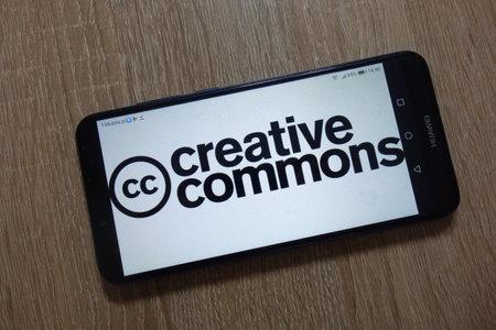 KONSKIE, POLAND - December 09, 2018: Creative Commons logo displayed on smartphone Stock Photo - 117319220