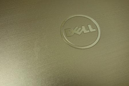KONSKIE, POLAND - June 21, 2019: Dell logo on silver laptop Redakční